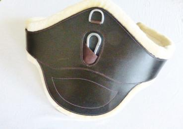 "Leather Belly Girth ""ATH Coronado Special"" with Faux Fur Lining"