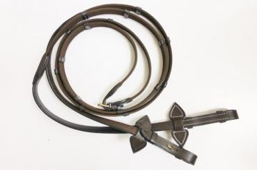 "Bridle ""Soft & Classy II"" with Mexican Noseband, English Leather, incl. Web Reins"