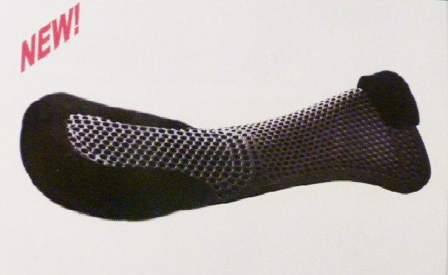schwarz Acavallo Gel-Pad mit Lammfell