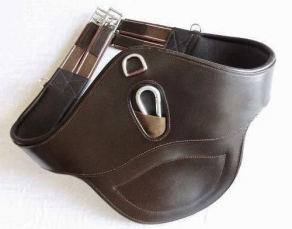 "Leather Belly Girth ""ATH Coronado II "" with Snap Hook and D-Ring"