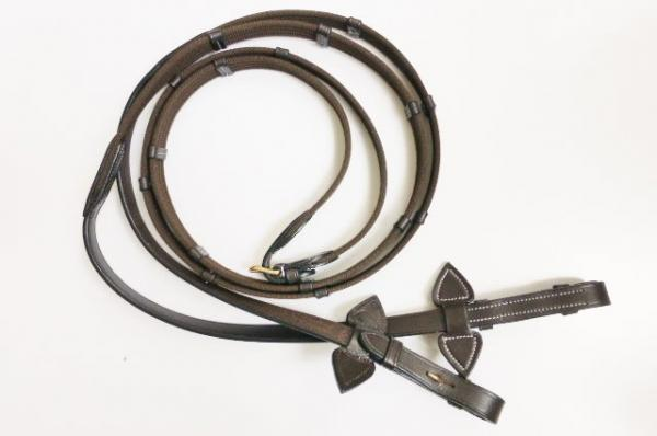 "Bridle ""Soft & Classy II"" with Flash Noseband, made of Leather, incl. Web Reins"